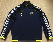 """""""JC"""" PLAYER ISSUE CENTRAL COAST MARINERS HUMMEL TRAINING TOP - MENS LARGE"""