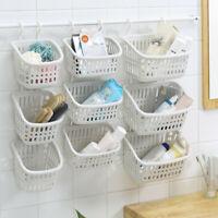 Plastic Hanging Shower Basket With Hook For Bathroom Kitchen Storage Holder