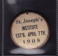 1908 St.Joseph's Institute,St.John's,Newfoundland Medal/Badge