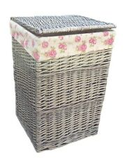 The Uppercrust Garden Rose Lined Washing Basket