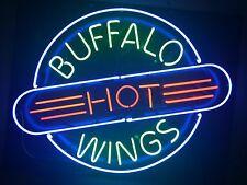 "New Buffalo Hot Wings Bar Pub Light Lamp Neon Sign 24""x20"""