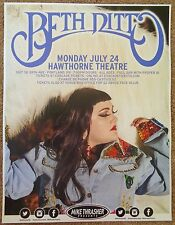 BETH DITTO 2017 Gig POSTER Portland Oregon THE GOSSIP Concert