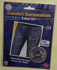 #) transfert tissu thermocollant : TATOO ART - effet sur-imprimé