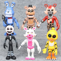 Five Nights At Freddy's Foxy Chica Bonnie 6 PCS Action Figure Cake Topper Toy US
