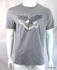Lucky Brand Men's T shirt S Navy Eagle Graphic tee S/S Gray 060 NEW NWT