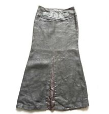 Vintage 80's Grey Maxi  Skirt Retro Boho 14