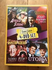 Classic Comedy 4 DVD Set Abbot & Costello, Chaplin Laurel & Hardy + More Sealed!