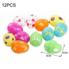 Plastic Painted Eggs 12 Packable Gifts Diy Educational For Children Toys D9F2