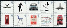 2009 GB BRITISH DESIGN CLASSICS BLOCK OF 10 FINE MINT MNH SG2887-SG2896