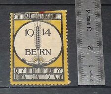 CINDERELLA 1914 VIGNETTE TIMBRE EXPOSITION NATIONALE SUISSE BERN SCHWEIZ BERNE