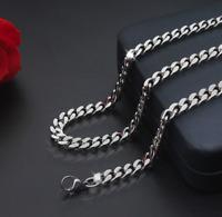 Panzerkette dick 5MM Halskette Silber 60cm lang Edelstahl Damen Herren Männer
