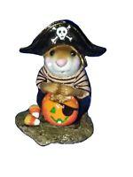 Wee Forest Folk M-216 LITTLE PIRATE KIDD Black Gold Halloween Miniature Mouse