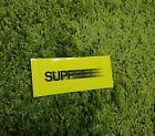 Supreme S/S 2016 Motion Sticker Box Logo Yellow