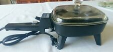 TOASTMASTER ELECTRIC 6 Inch SKILLET, Fry Pan, Model 805B With Lid Black NEW