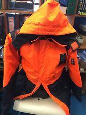 Bizwear Freezer Jacket / Chiller Jacket  Orange/Navy With Hood XXL Size