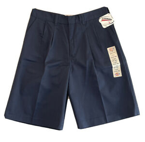 Dickies School Wear Uniform Boys Shorts NEW Vintage  18 HUSKY Blue Scotchgard 3M
