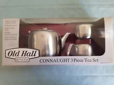 More details for mid century old hall connaught mirror finish three piece tea set bnib.