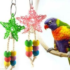 Rattan Five-pointed Star Bird Swing Hanging Parrot Toys Chewing String Colorful