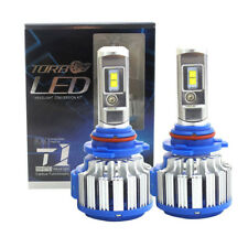 2PCS T1 HB3/9005 Turbo LED Bulb Headlight Conversion Kit 80W 6000K 8000LM Canbus