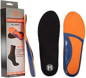 Shoe Inserts for Men, Memory Foam Insoles Relieve Flat Feet & Heel Pain