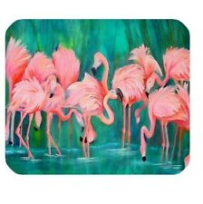 MOUSE MAT 135 Pink Flamingo design,love heart flamingos pattern Cloth Cover Rect