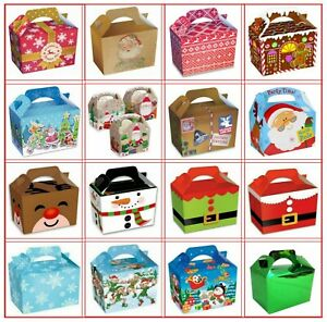 Childrens Kids Christmas Table Present Gift Box / Xmas Party Food Boxes