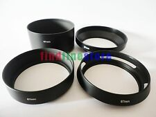 67mm standard telephoto wide angle vented curved metal lens hood kit set 4pcs
