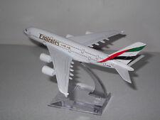 16cm Airbus A380 Emirates Airlines Die Cast Metal Desk Aircraft Plane Model UK
