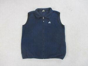 Eastern Mountain Sports Vest Adult Large Black Black Fleece Outdoors Mens *