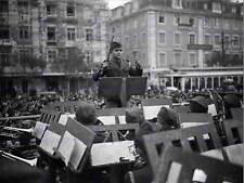 Vintage photo musique portugais youth band conductor lisbonne poster print BB12360B