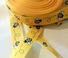 1m g/grain ribbon 22 mm bright yellow bumble bee insects worker bees busy bee