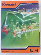 Konami's ping-pong msx cartridge complete (rc731).