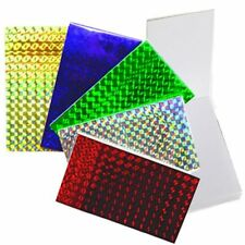 12 x MINI SHINY LASER NOTEPADS - RED BLUE etc PARTY BAGS SCHOOLS