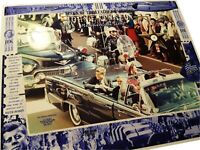 BACKSEAT LEATHER speck of Lincoln LIMO JFK was assassinated in November 22, 1963