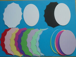 20 Oval Shaped Die Cuts--Choice Of Colour Combinations