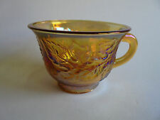 CARNIVAL GLASS CUP FOR PUNCH BOWL SET GRAPE PATTERN