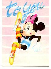 Minnie Mouse Ballet Dancer-Leotard-Disney Character Holland Comic Art Postcard
