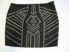Guess Womens Studded Mini Skirt Black Sz 4 - NWT