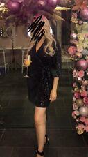 Stunning f&F Black Sequin Wrap Blazer Style Dress Size 12