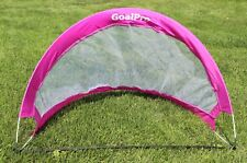 NEW PORTABLE POP UP FOLDABLE KIDS SOCCER GOAL CHILD SOCCER GAME COACH PINK/WHIT