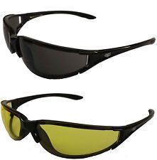 Twin Pack Fat Skeleton Chopper Wrap Motorcycle Yellow & Dark Sunglasses Bobber