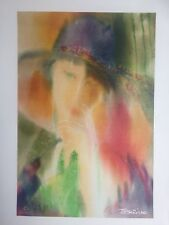 """Tamara Dolidze """"Woman with a Hat""""  Limited Editon 2 of 250 Giclee Canvas, W/COA"""