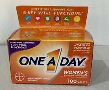 Womens One A Day Formula, Multivitamin, 100 Tablets, Heart/Energy/Bone/Immune.