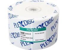 PlexDisc 4.7GB 16X DVD-R White Inkjet Printable 50 Packs Disc Model 632-210