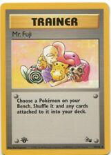Mr. Fuji 58/62 1st Ed. Trainer Fossil Set Pokemon Card EX-GD