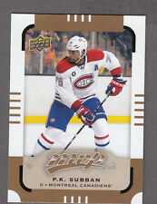P.K. SUBBAN 2015-16 UPPER DECK UD MVP SP #159 MONTREAL CANADIENS !