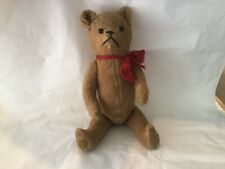 Antique Teddy Bear 13� articulated arms & legs button eyes embroidered nose