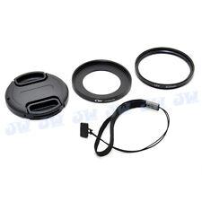 Kiwi 52mm UV Filter Kit Lens Adapter Ring Cap Wiht Keeper Set for Sony Rx100