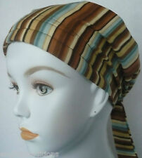 Cancer Chemo Hat Fitted Scarves Headwrap Hair Cover Alopecia Cotton Turban