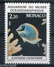 MONACO 1985, timbre 1484, POISSON ACANTHURUS LEUCOSTERNON, neuf**